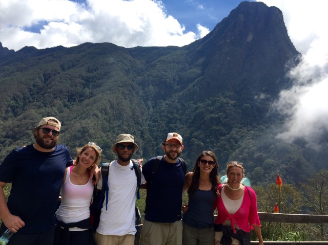Cocora Valley's hiking group. Viviane is at the far right.