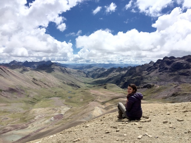 At 5000 meters above sea level in Vinicunca.