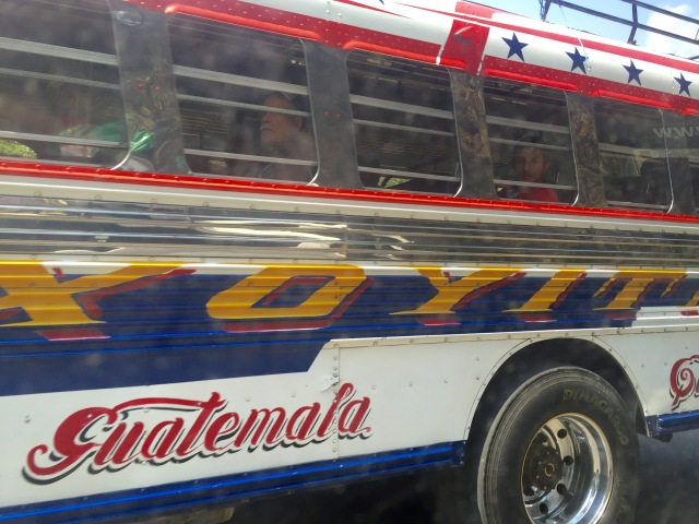 A local chicken bus in Antigua.