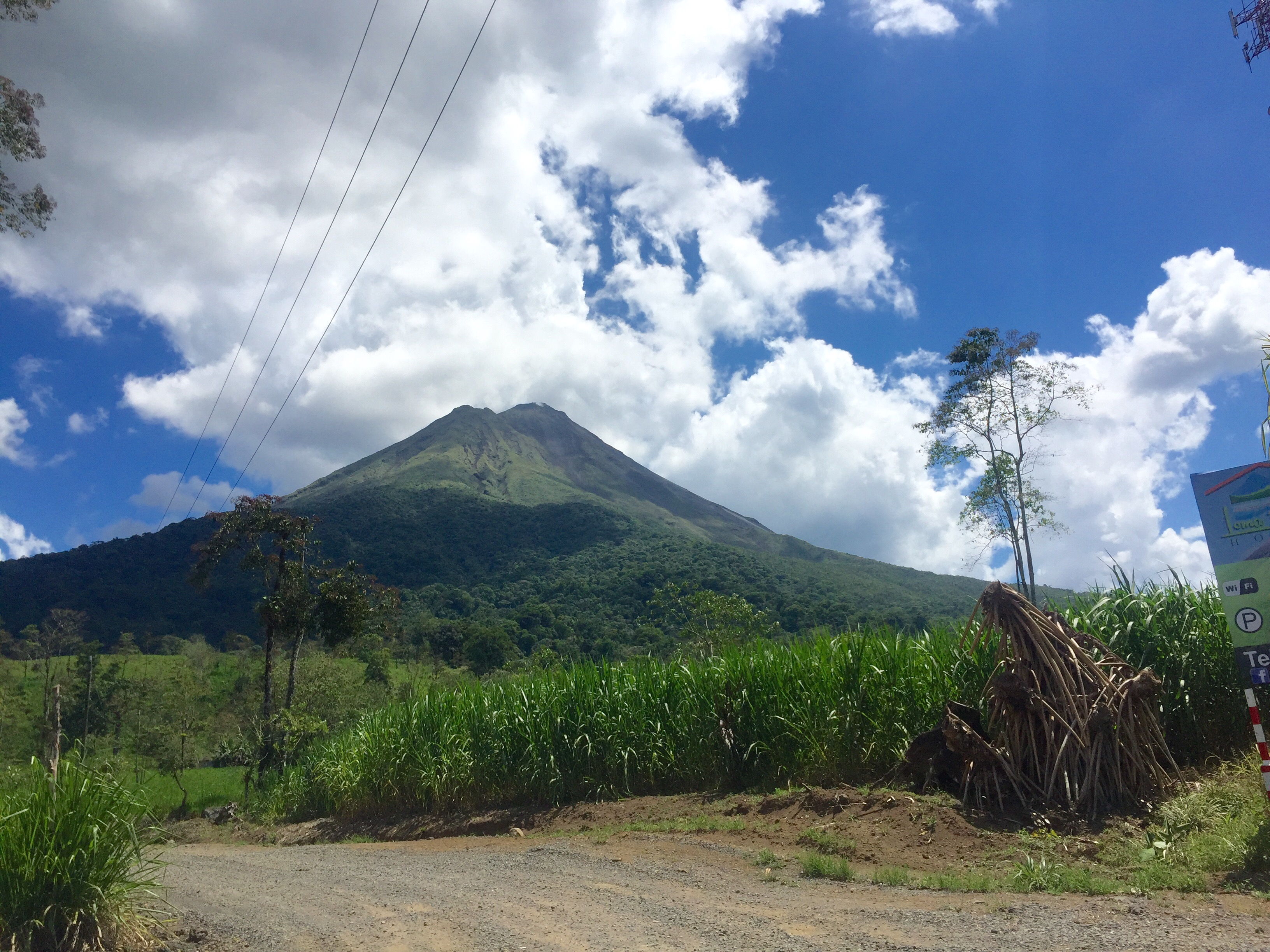 Arenal Volcano, seen from the town of La Fortuna.