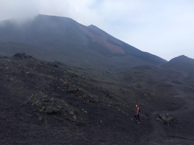A day hike to the active Pacaya volcano near Antigua.