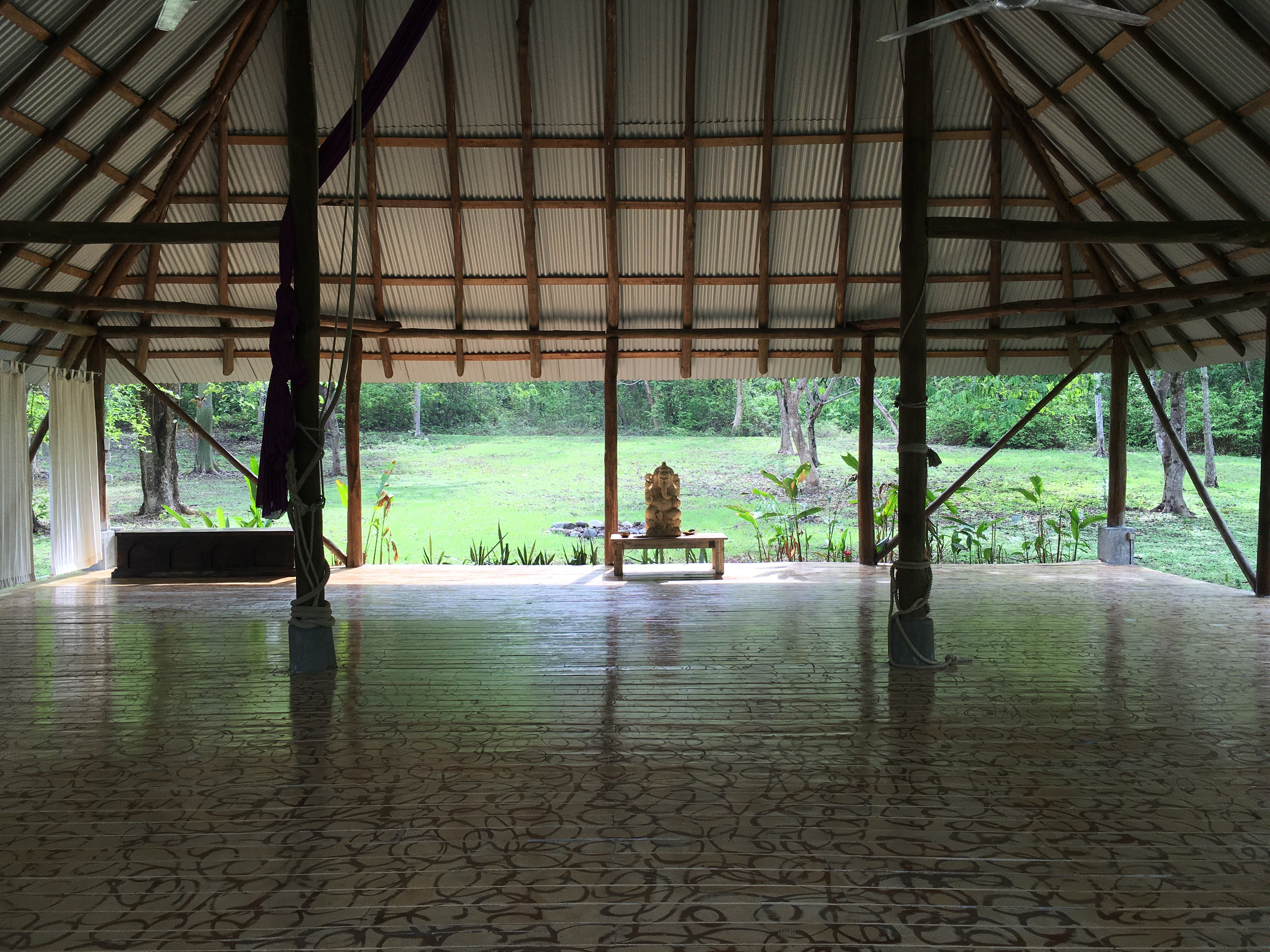 Yoga in the jungle in Mal Pais.