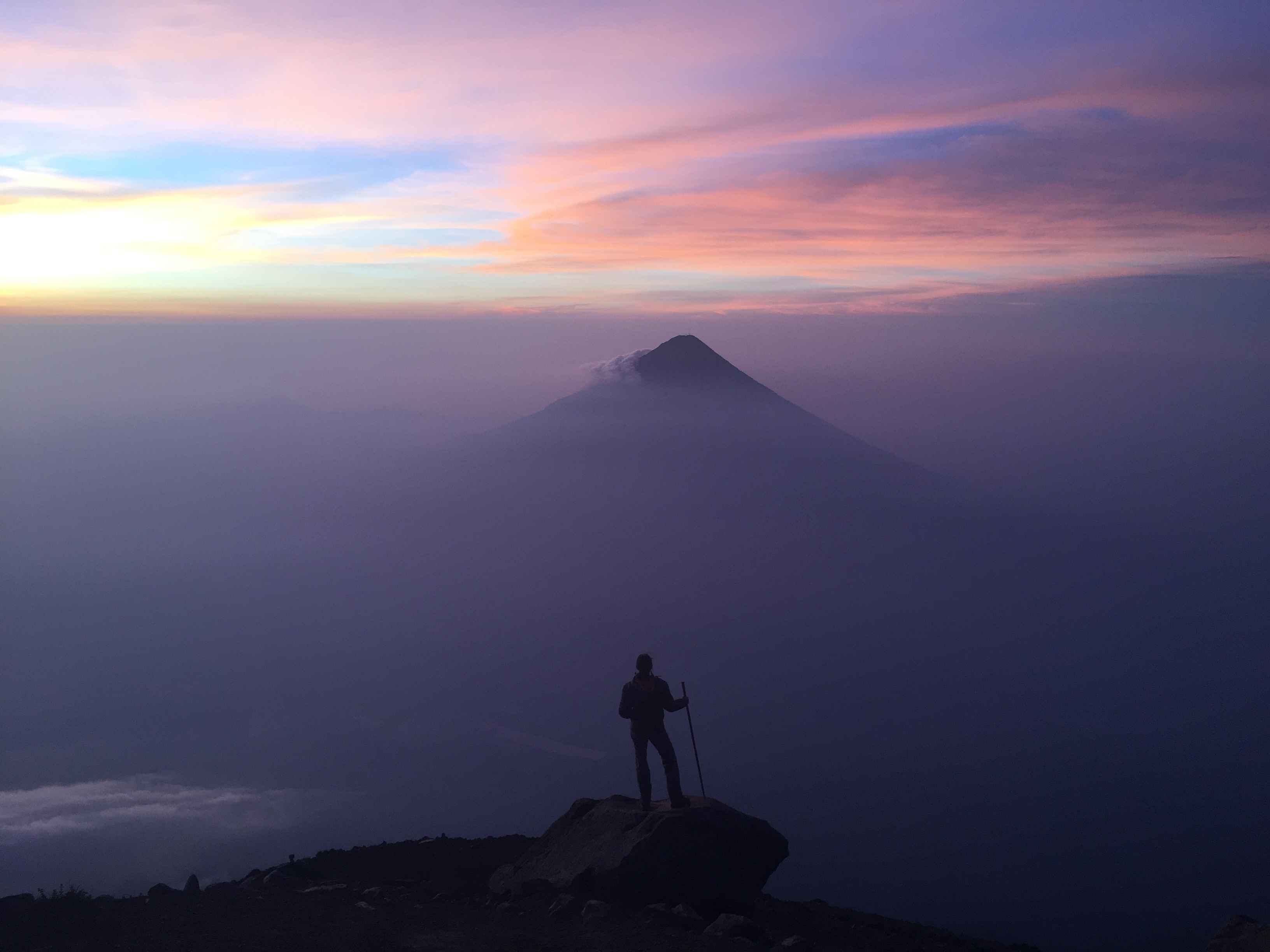 One last view at the summit of Acatenango Volcano.